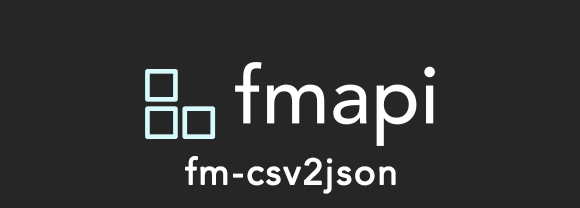 A CSV Parser that converts CSV into JSON on the FileMaker Pro Platform.